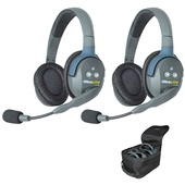 Eartec UL2D UltraLITE 2-Person Headset System with Batteries, Charger & Case (Dual-Eared)