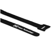 """Hosa Technology WTI-508 Hook & Loop Cable Ties 0.5 x 8"""" (Black, 50-Pack)"""