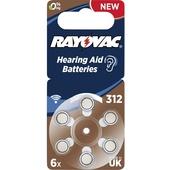 Rayovac Batteries AE312 PR41 Hearing Aid Batteries