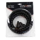 DYNAMIX Easy Wrap Cable Management Solution (Black, 2.5m x 15mm)