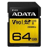 ADATA 64GB Premier ONE V90 UHS-II SDXC Memory Card (Class 10)