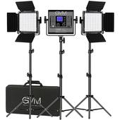 GVM LED Studio 3-Video Light Kit (2.1m)