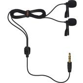 Comica Audio CVM-D02 Dual Omnidirectional Lavalier Microphones (Black, 4.5m)