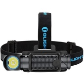 Olight Perun 2 Right Angle Rechargeable Flashlight with Head Band (Black)