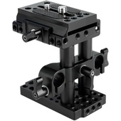 Niceyrig Quick Release Riser Kit with Manfrotto Compatible Baseplate & 15mm Dual-Rod Clamp