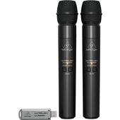Behringer Ultralink ULM202 USB 2.4 GHz Dual Wireless Microphone System