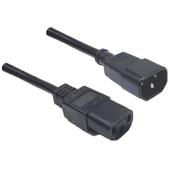 DYNAMIX IEC Male to Female 10A SAA Power Cord (Black, 1.8 m)