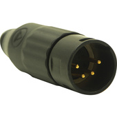Switchcraft AAA Series 4-Pin XLR Male Cable Mount (Black Metal Finish, Gold Pins)