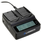 Luminos Dual LCD Fast Charger with Sony L & M Series Battery plates