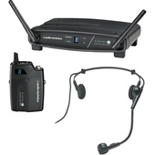 Audio Technica ATW-1101/H System 10 Digital Wireless Headworn Dynamic Microphone Set