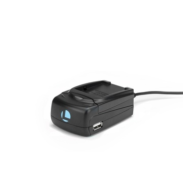 Luminos Universal Compact Fast Charger with Adapter Plate for DMW-BCF10, DMW-BCG10, or BP-DC7