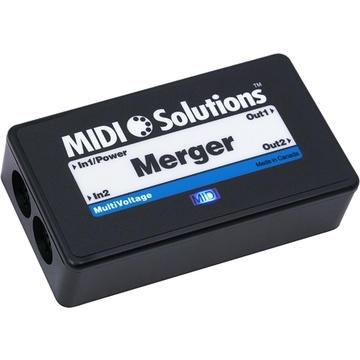 MIDI Solutions MultiVoltage Merger 2-in 2-out MIDI Merge Box