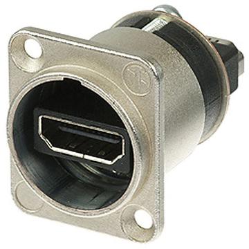 Neutrik HDMI 1.3 Feed Through Adapter D-Shape Housing IP65 (Nickel)