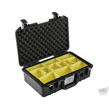 Pelican 1485 Air Compact Hand-Carry Case (Black, with Dividers)