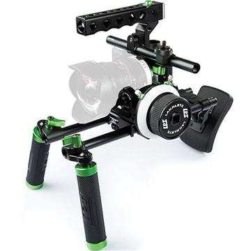 Lanparte Blackmagic Pocket Cinema Camera Basic Handle Rig with Follow Focus