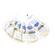 Bluestar Large Round Eyecushion - Microfibre Natural (5 Pack)