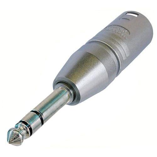 "Neutrik NA3MP 3-Pole XLR Male to Stereo 1/4"" Locking Plug Adapter"