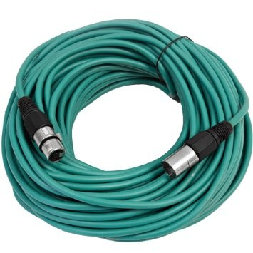 Canare L-4E6S Star Quad XLRM to XLRF Microphone Cable - 25' (Green)