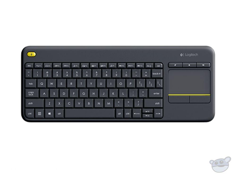 Logitech K400 Plus Wireless Touch Keyboard (Black)
