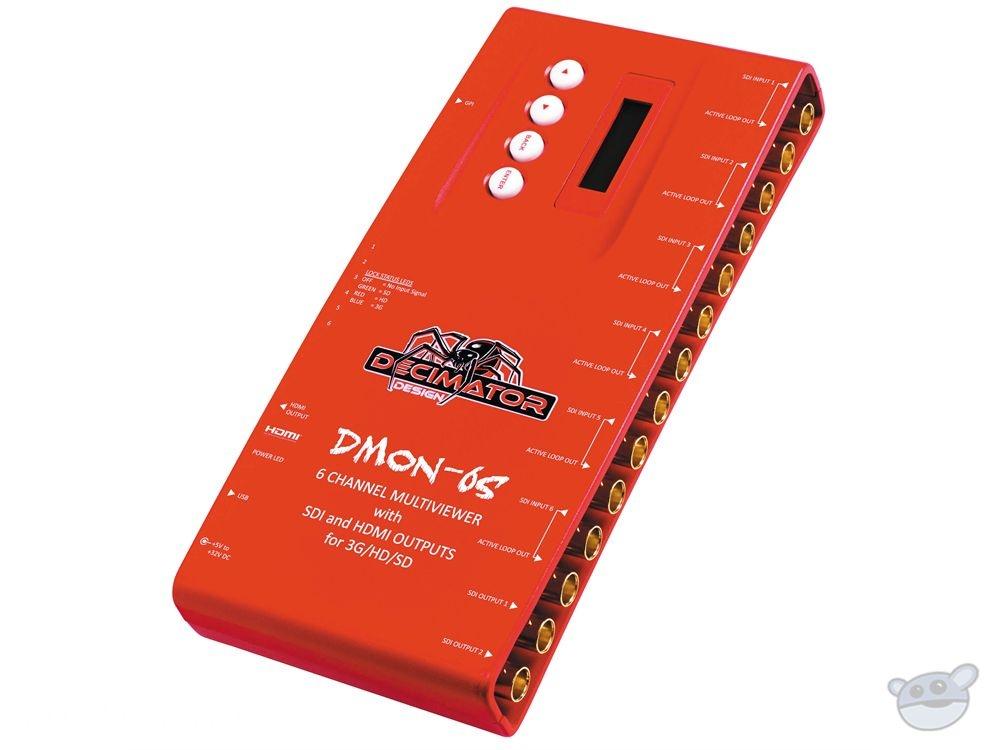 DECIMATOR DMON-6S 6 Channel Multi-Viewer with HDMI & SDI Outputs
