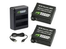 Wasabi Power Battery (2-Pack) and Dual Charger for GoPro HERO4